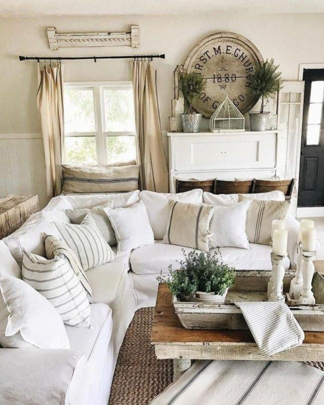Cozy French Country Living Room Decor Ideas 40