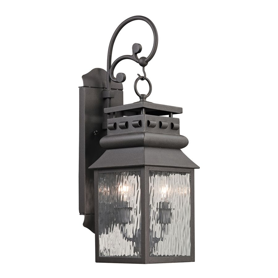 Shop Westmore Lighting Eckhart's Forge 22-in H Charcoal Outdoor Wall Light at Lowes.com
