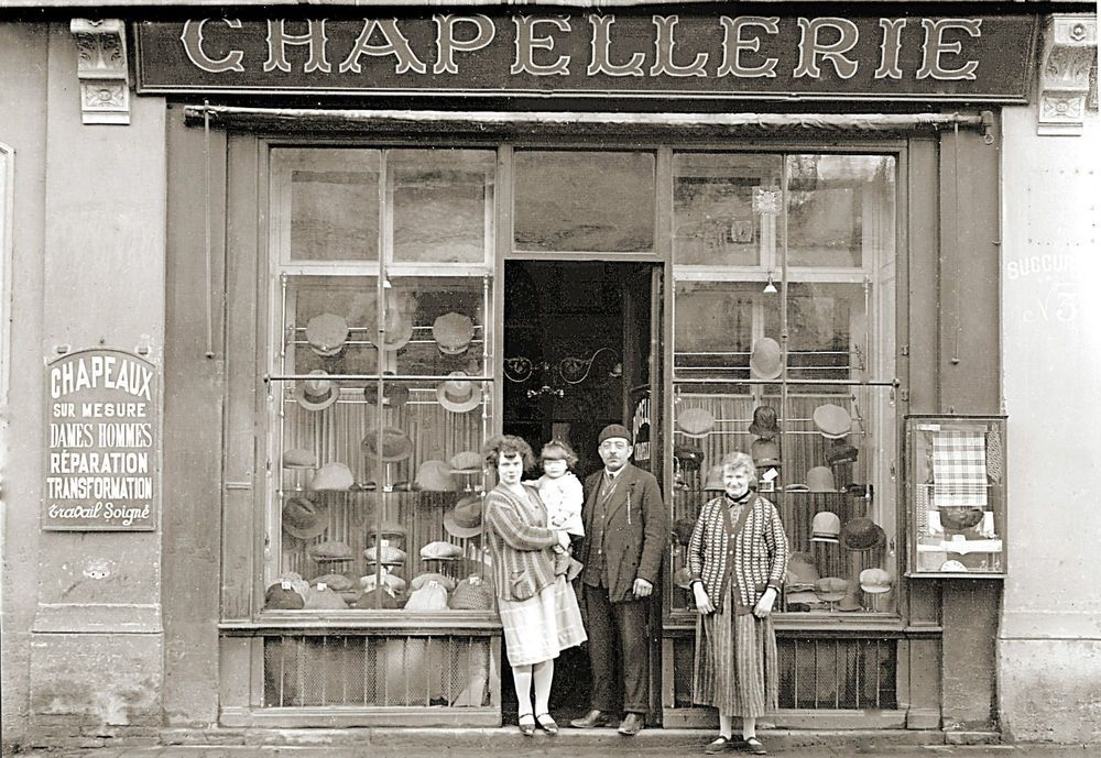 photo ancien commerce toulouse magasin chapeau chapellerie tirage ann e 1920 photographie. Black Bedroom Furniture Sets. Home Design Ideas