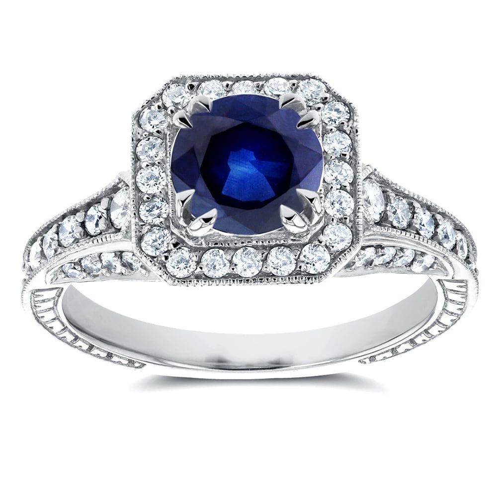 blue cubic fashion sparkles celebrity diamond products carat sapphire cut ring princess silver faux solitaire cocktail zirconia beloved cz trendy nadine