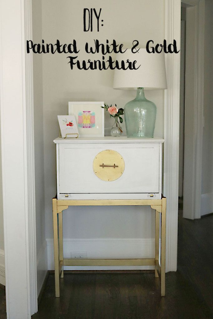 Diy Painted White And Gold Furniture Amy Howard At Home One Step