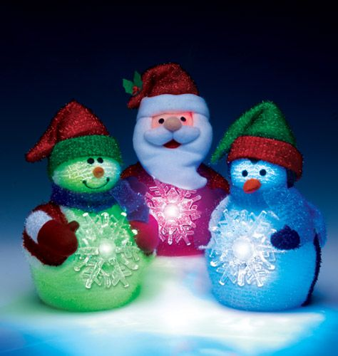 AVON - Christmas Light Up Pals  They are so cute sitting in the window or as a center piece on the table.