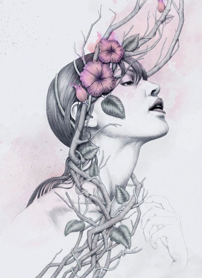 Belleza digital en las ilustraciones de Diego Fernández