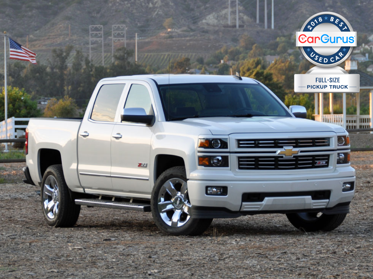Cargurus 2018 Used Car Awards Goes To The Chevy Silverado For Best