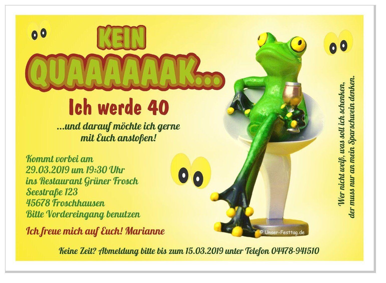 Einladungskarte Frosch Auf Barhocker Einladungskarten Lustige