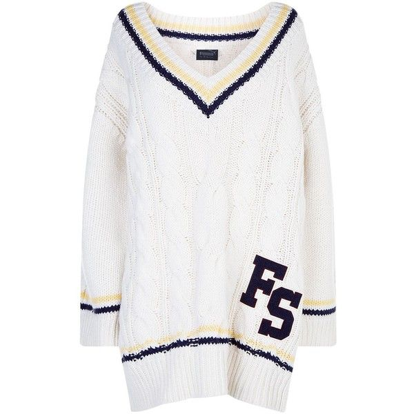 Fenty Puma Oversize Cable Knit Sweater 1045 Liked On Polyvore