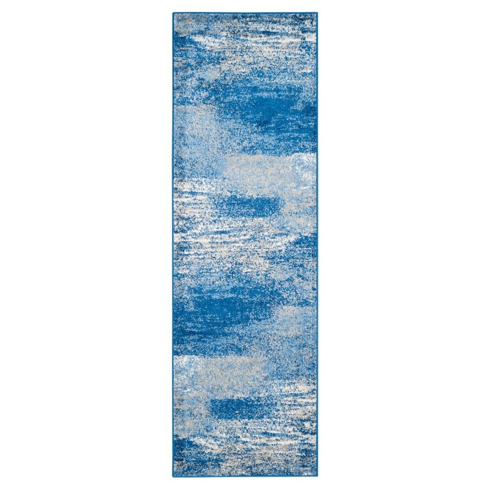 Silver Blue Fleck Loomed Runner 2 6 X12 Safavieh In 2020 Blue Area Rugs Silver Rug Blue Rug