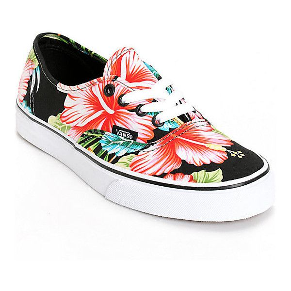 417c1e870ca58a Vans Authentic Hawaiian Floral Shoes ( 55) ❤ liked on Polyvore featuring  shoes