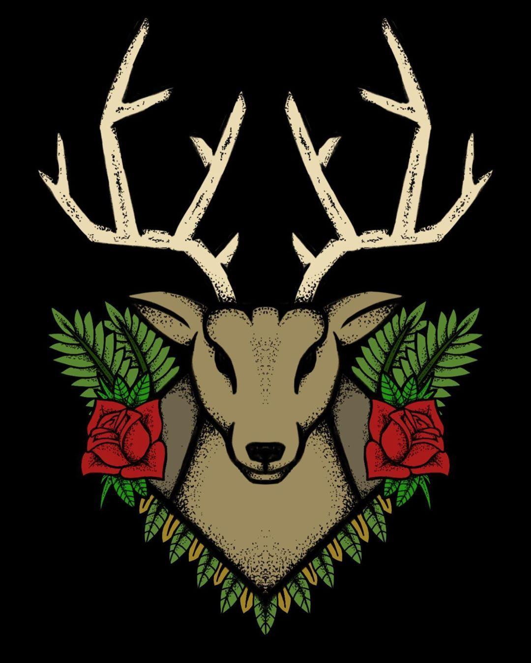 Oh deer 🌹 . . . . . Design for sale #illustration #art # ...