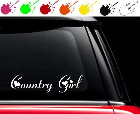 Country Girl Heart Vinyl Car Truck Decal Sticker By Bossdecals Car Girls Truck Decals New Trucks