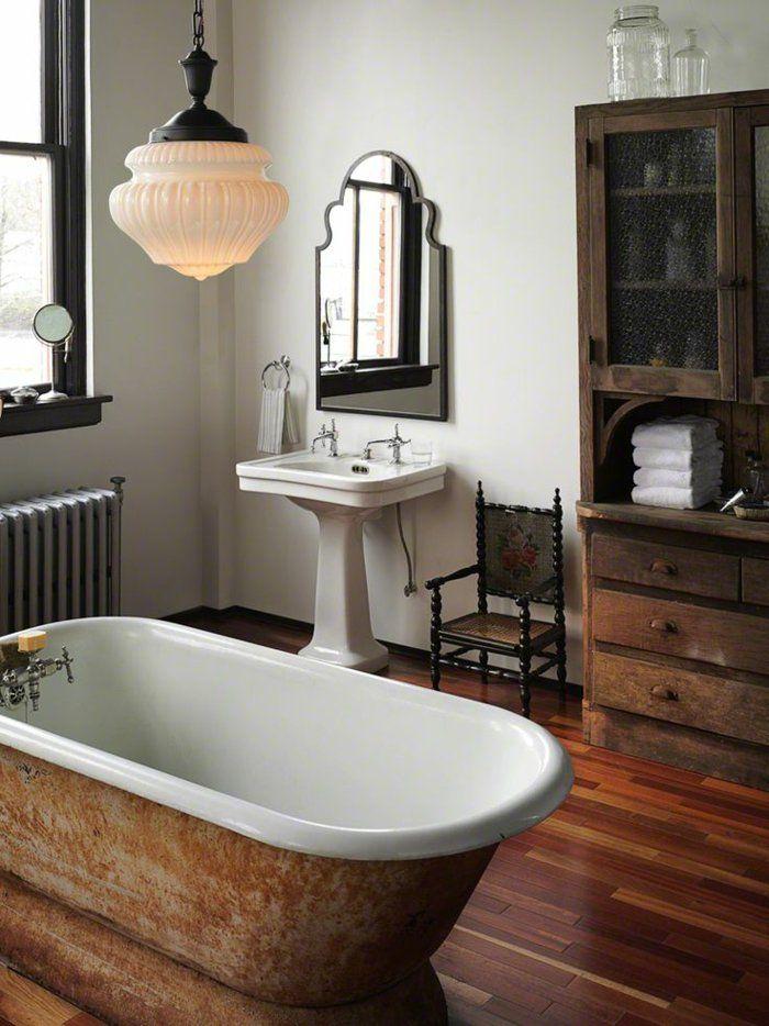 40 photos d\'intérieur de la baignoire ancienne! | Bathroom Charm ...