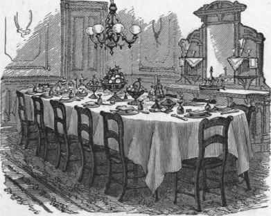 The General Arrangement Of Table Set For A Party