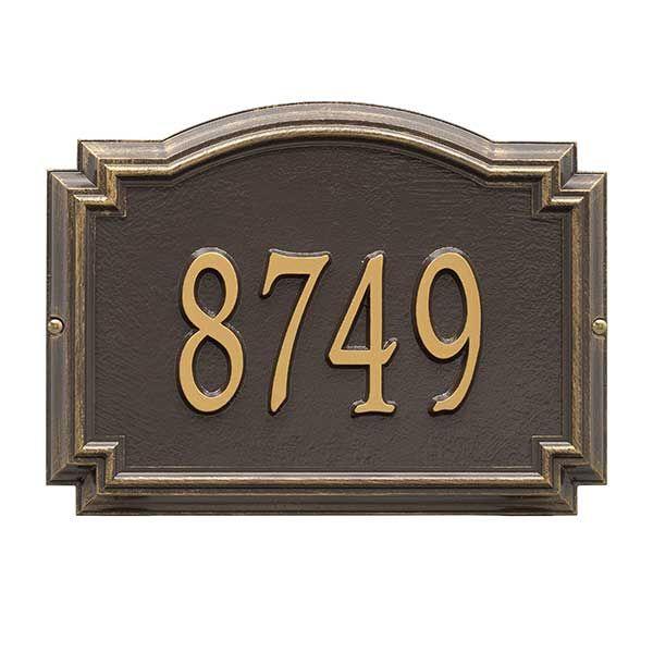Personalized House Number Plaque Williamsburg Design Address Plaque Wall Plaques Custom Address Plaque