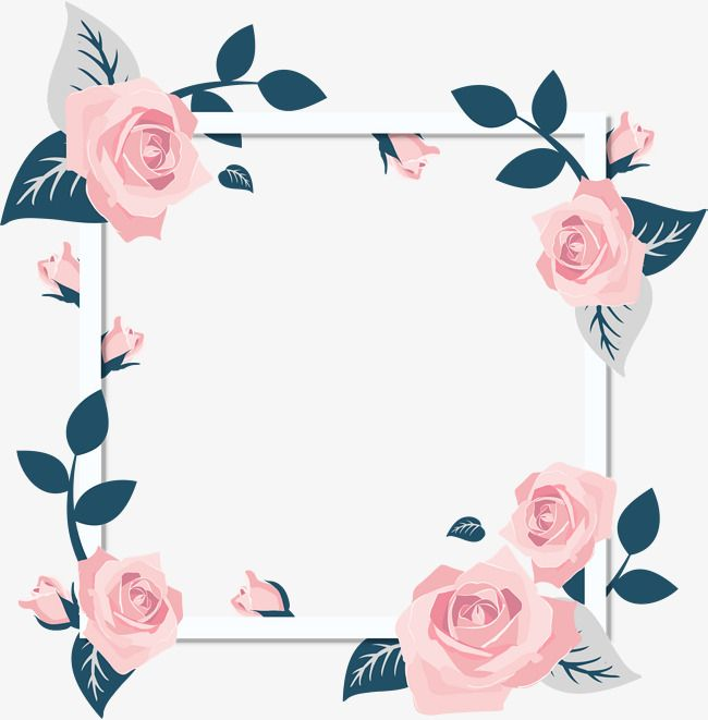 Romantic,Valentine's Day,Pink Roses,Flower Vine,frame,Card