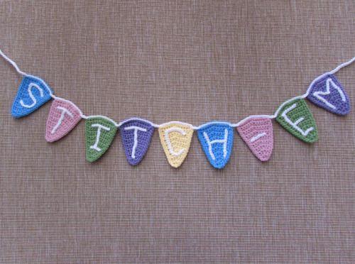 Crochet free pattern - bunting flags ~~   Crochet - Knit - Multiple ...