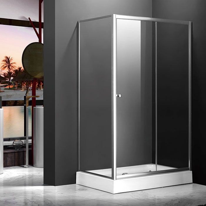 48 x 36 in. (120 x 90 cm) Clear Tempered Glass Shower