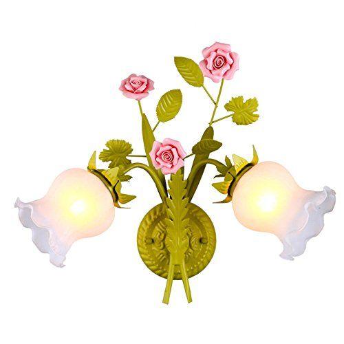 ASL Rose Blume Wandleuchte, Retro Schlafzimmer Wohnzimmer