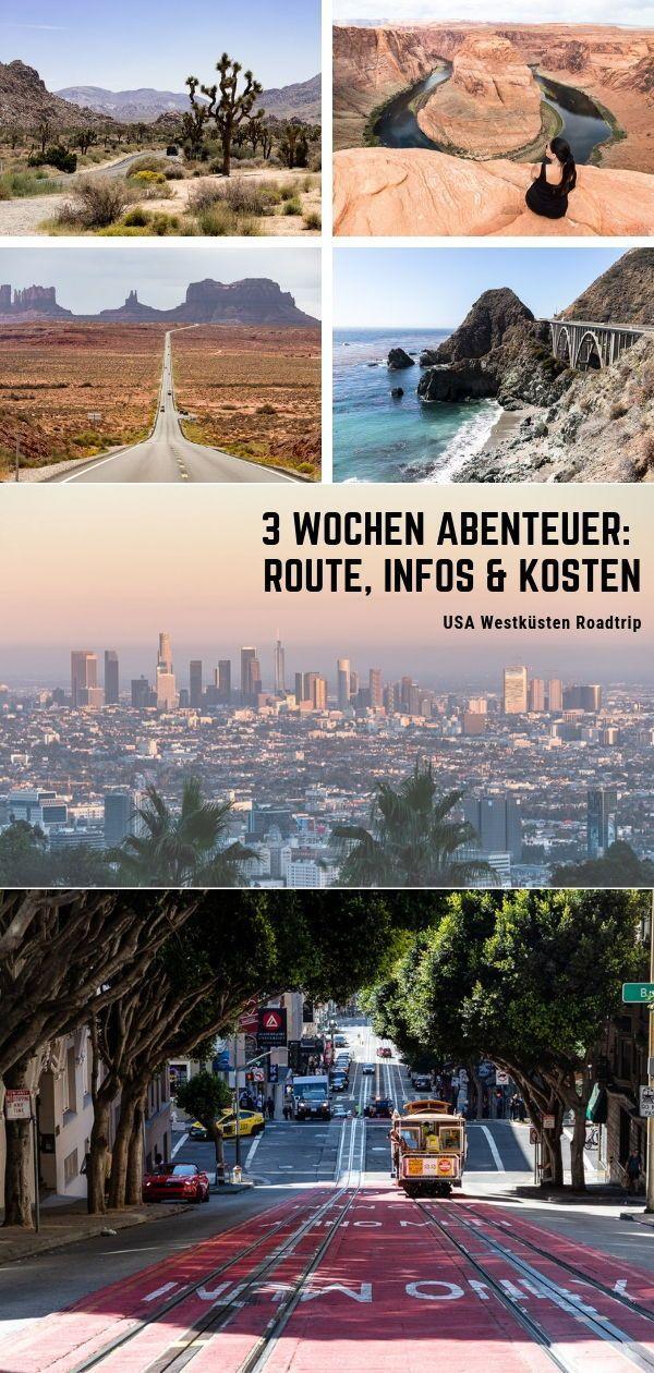 USA Westküsten Roadtrip - 3 Wochen Abenteuer: Route, Infos & Kosten #westcoastroadtrip