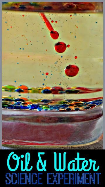 Colorful Oil & Water Science Experiment - Kids will have fun learning about density with this colorful, fun, and EASY oil and water science experiment for toddler, preschool, kindergarten, first grade, 2nd grade, 3rd grade, 4th grade, and 5th grade kids. This is such a fun science project that is the perfect summer activity for kids to add to summer bucket list. #science #scienceexperiments #scienceprojects #homeschool #preschool #kindergarten #firstgrade #2ndgrad #3rdgrade