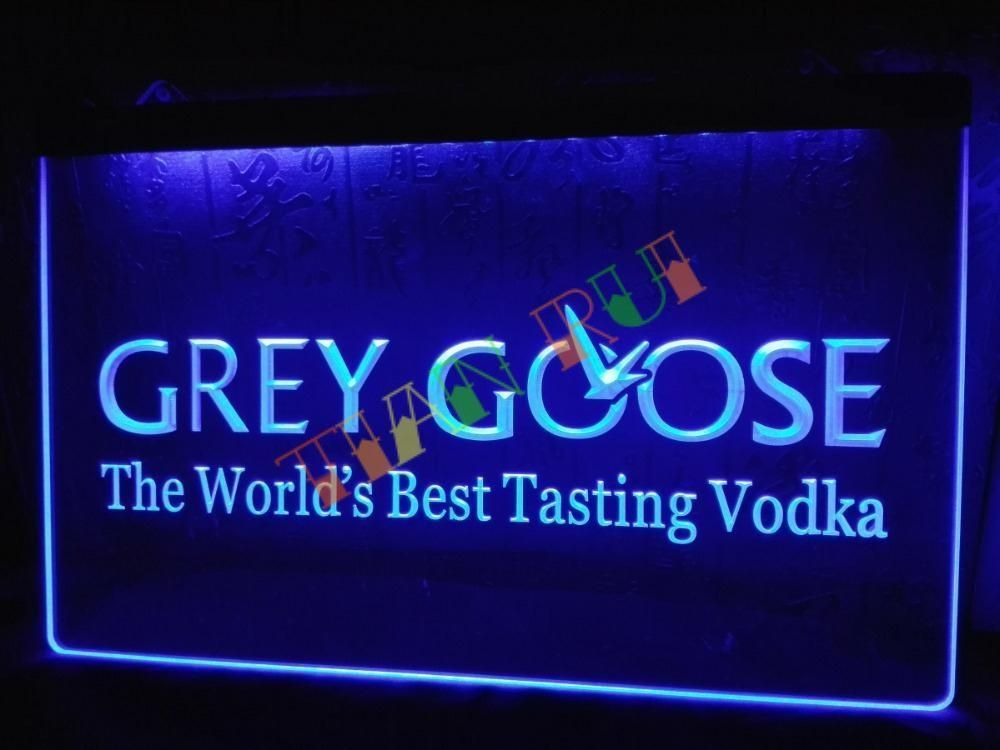 Led Sign Home Decor Enchanting Grey Goose Vodka Beer Bar Pub Nr Neon Light Sign #unbranded Inspiration