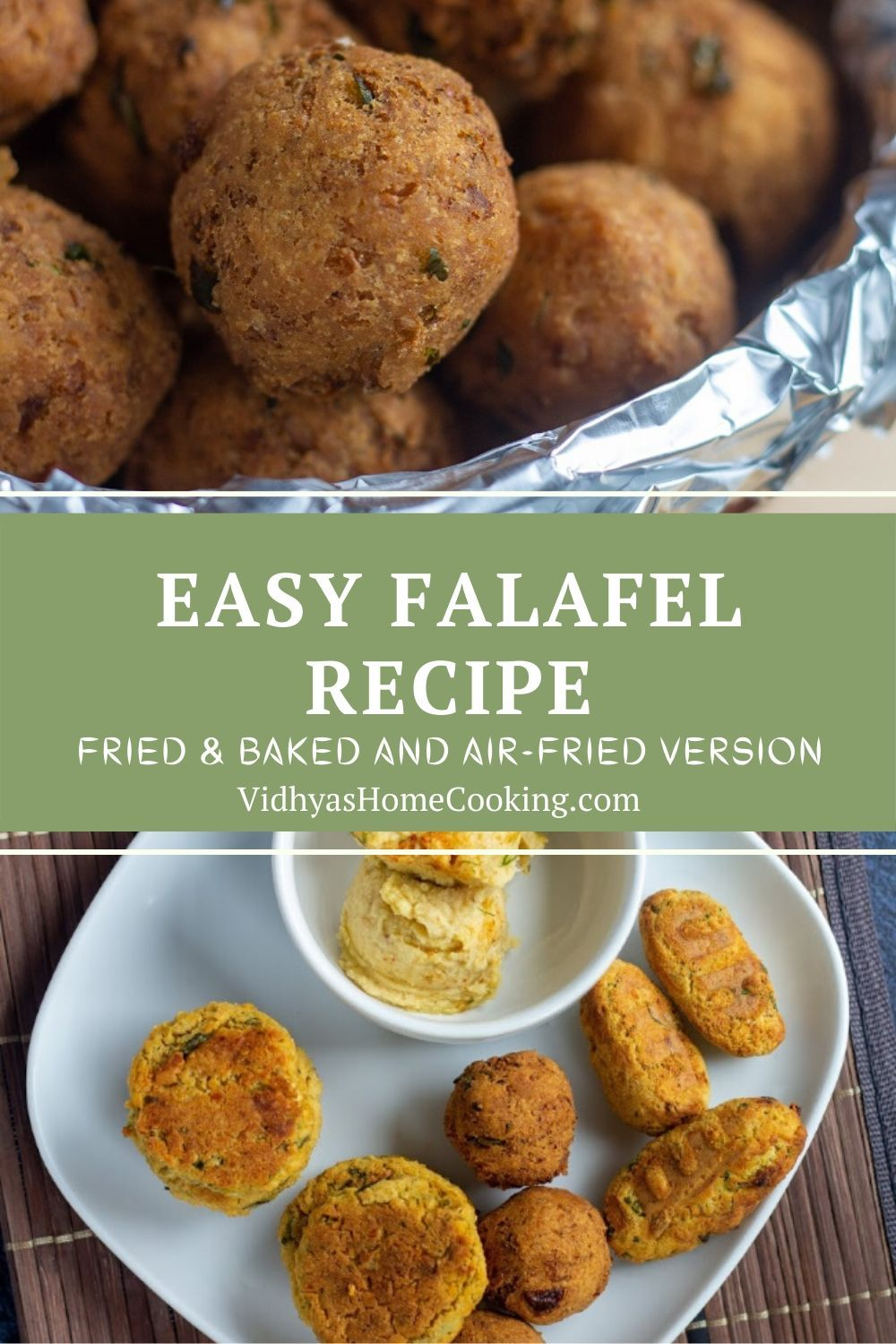 Falafel With Cooked Or Canned Chickpeas Fried Baked And Air Fried Version Falafel Recipe Easy Falafel Recipe Canned Falafel Recipe