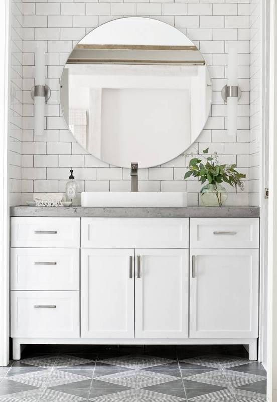 14 Reasons To Use Concrete Countertops In Your Bathroom White Vanity