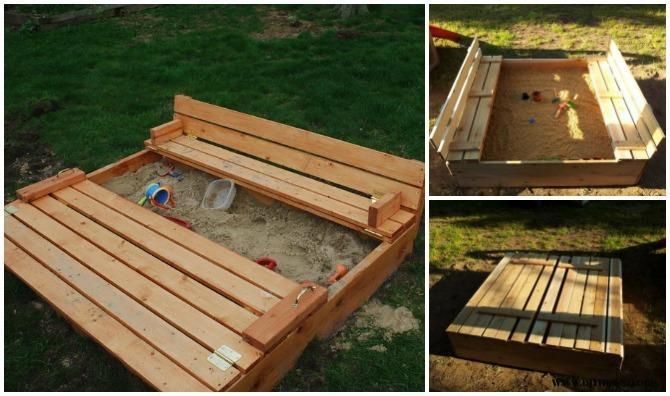 DIY Pallet Sandbox Projects: The Ingenious Design Of This Wooden Box Can Be  Opened Up