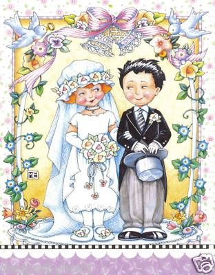WEDDING COUPLE BY MARY ENGELBRIET