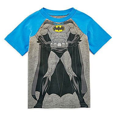 jcp | Batman Short-Sleeve Raglan Tee - Toddler Boys 2t-5t