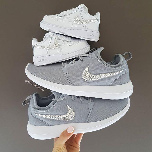 Matching Mum and Baby Bub Nike Sneakers Nike Roshe Two Grey Women Nike Air  Force 1