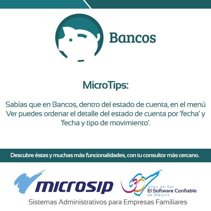 #TomaNota del siguiente #MicroTip y aprovecha al máximo tus sistemas #Microsip. Para más información acerca de nuestro sistema de Bancos entra a http://bit.ly/BancosMSP