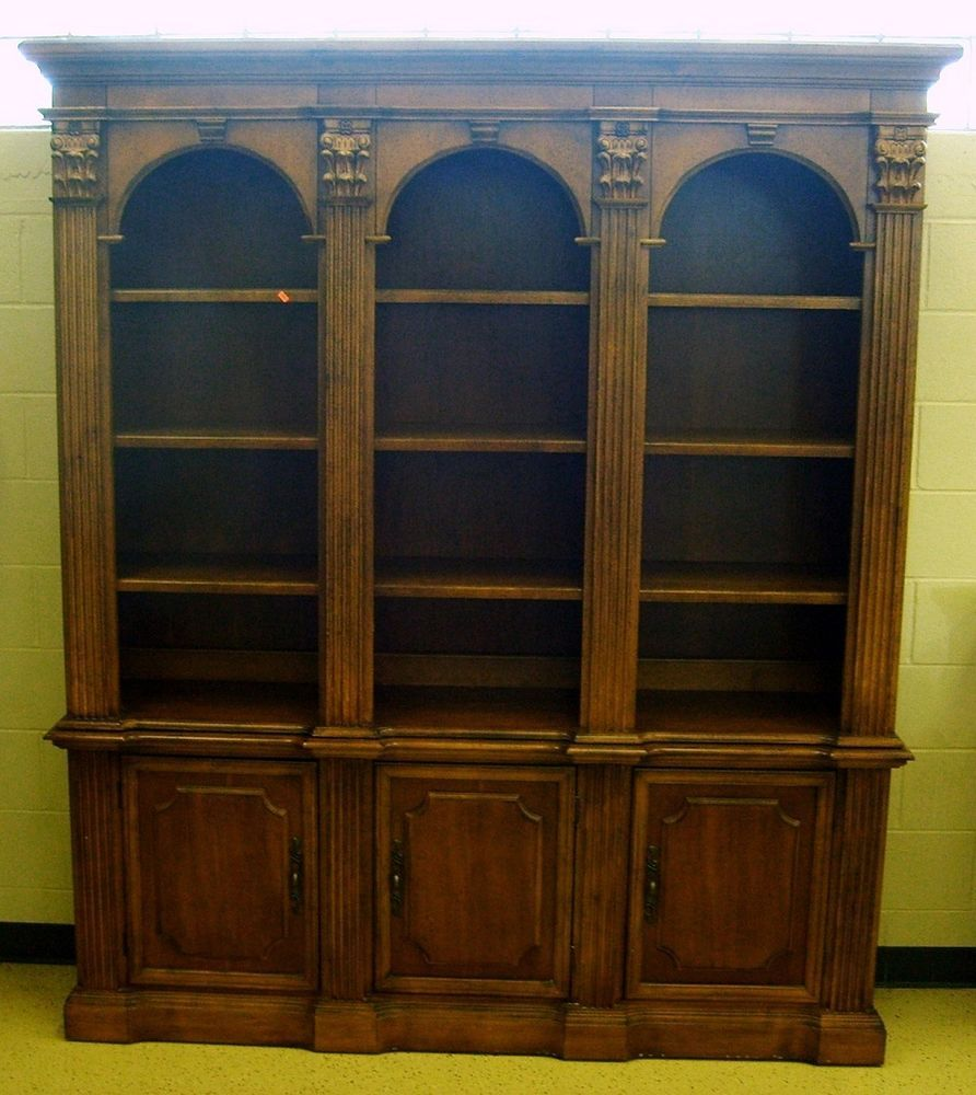 Superb Hooker Furniture Two Piece Lighted Bookcase