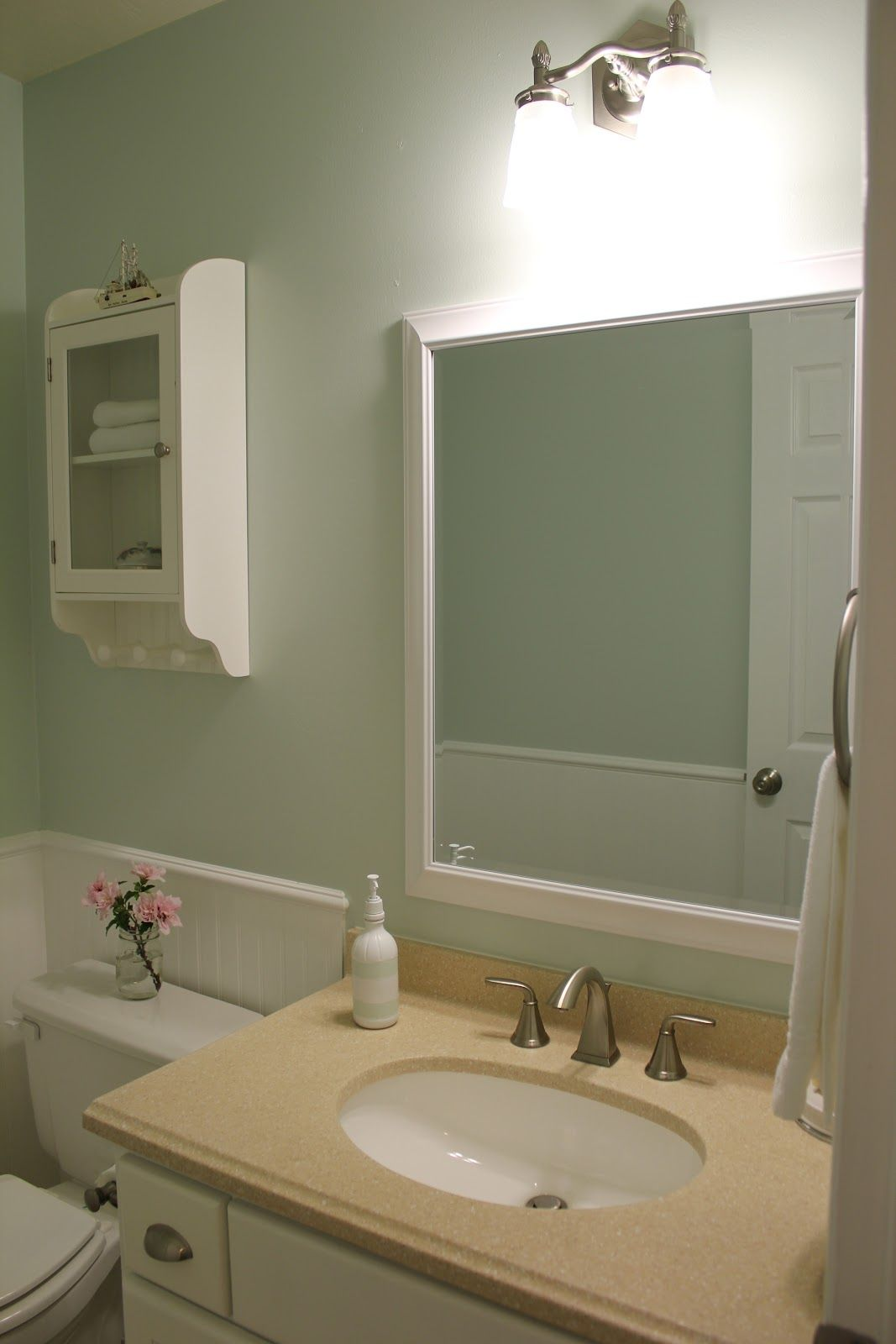 Bathroom Makeovers Greenville Sc aqua or pale green and light tan with white gives a beach look to