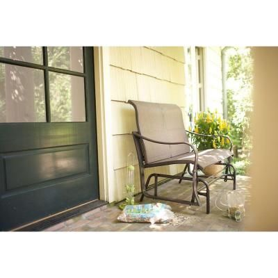 Martha Stewart Living Grand Bank Patio Double Glider D4067 G At The Home  Depot