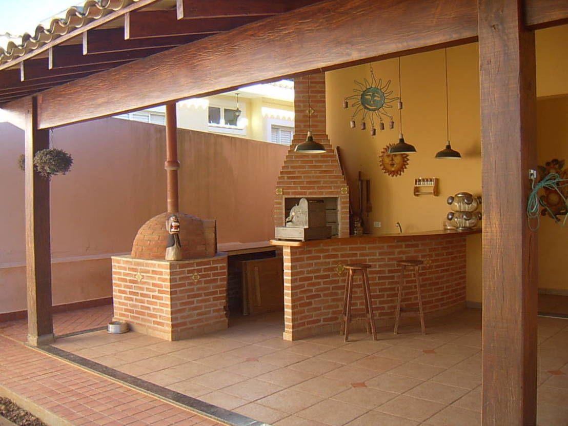C mo dise ar una terraza con asador y horno de le a 7 - Como disenar un bar en casa ...