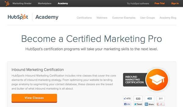 Hubspot\'s Social Inbound Marketing Certification. | Advancement ...