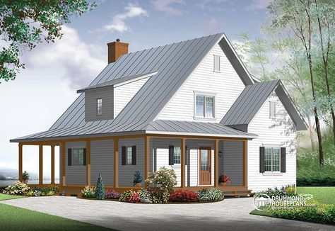 New Beautiful Small Modern Farmhouse Cottage Farmhouse Style House Modern Farmhouse Plans House Plans Farmhouse