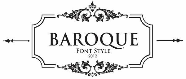 Baroque Font Style By Daniel Junior Via Behance Baroque Design Baroque Lettering