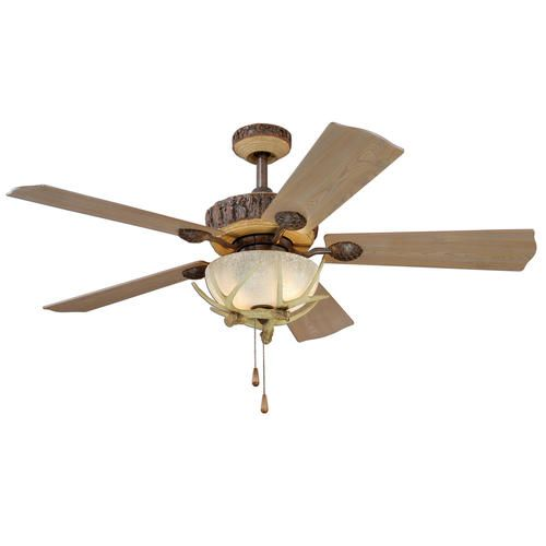 Turn Of The Century Yosemite Ii 52in Weathered Patina Ceiling Fan