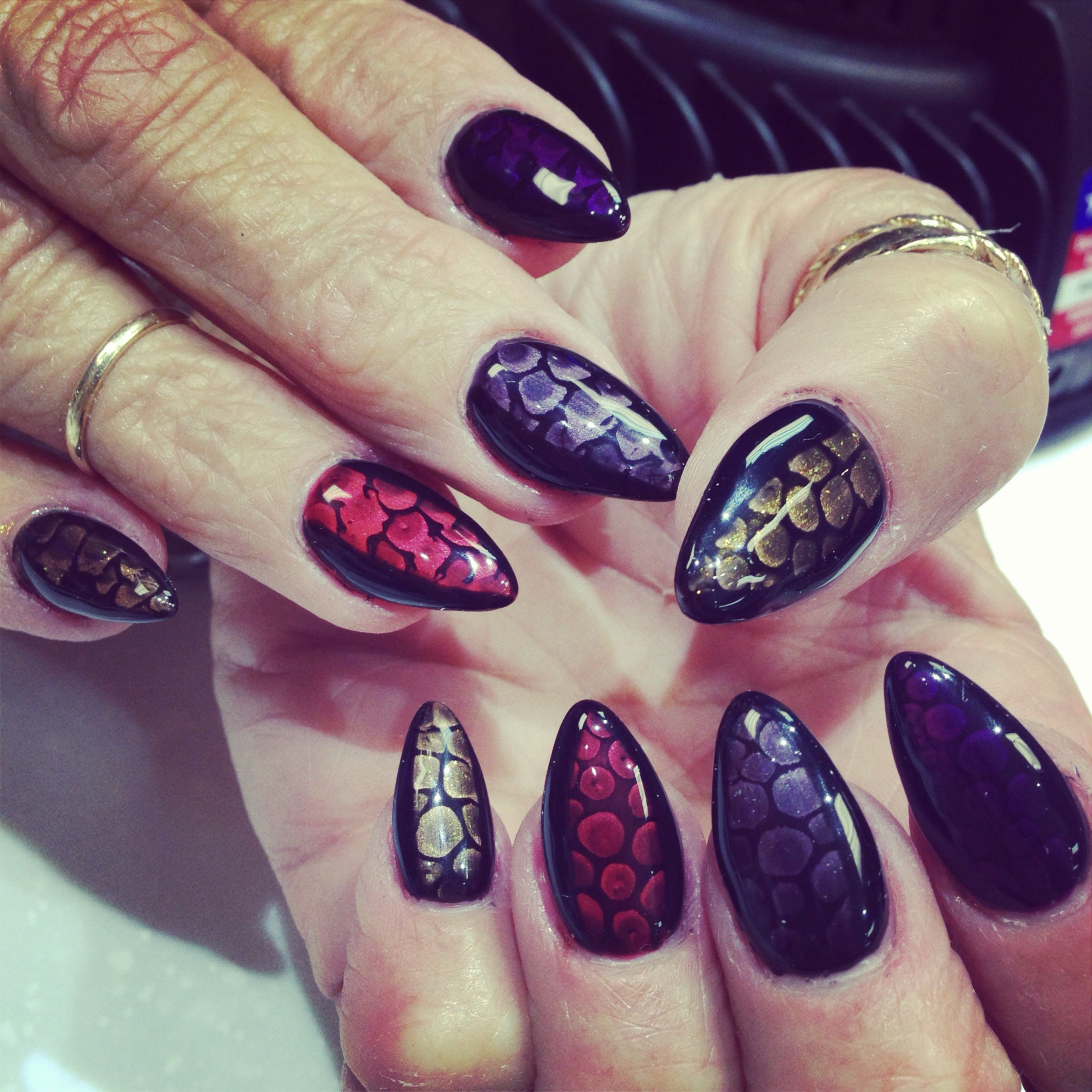 Nails Nailart Snakeskin Nail Design