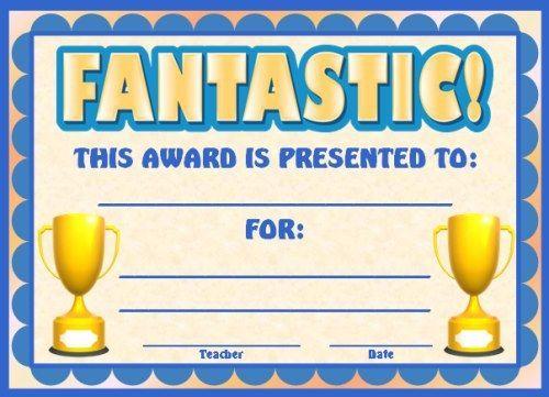 Fieldstation.co  Printable Achievement Certificates