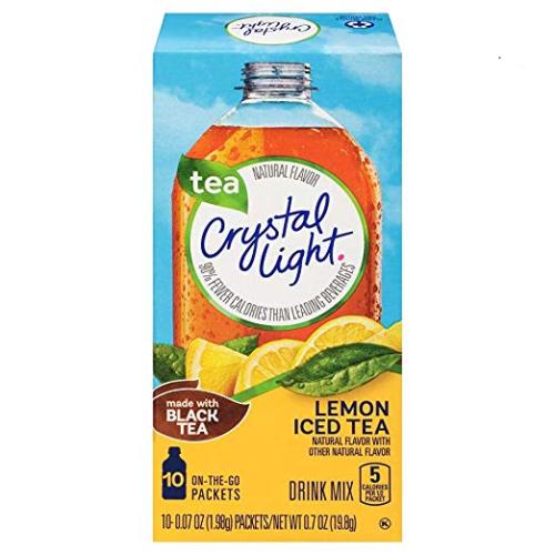 Crystal Light Lemon Iced Tea Drink Mix Made W Black Tea Lot Of 19 Packets Ebay Iced Tea Drinks Crystal Light Drinks Mixed Drinks