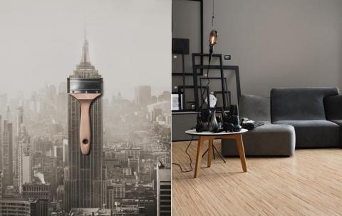 sch ner wohnen trendfarbe manhattan interieur. Black Bedroom Furniture Sets. Home Design Ideas