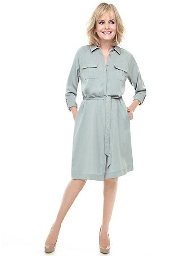 Twiggy for M&S Collection Belted Shirt Dress | Clothes | Belted