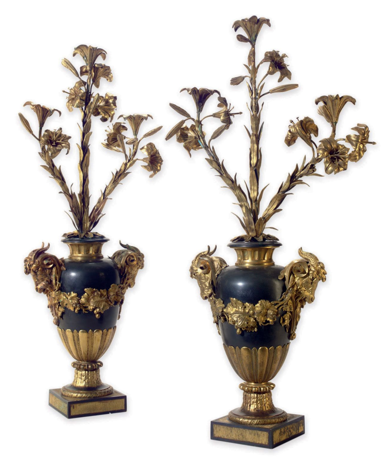 date unspecified A PAIR OF NORTH EUROPEAN ORMOLU AND