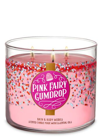 Bath Body Works Pink Fairy Gumdrop 3 Wick Candle In 2019