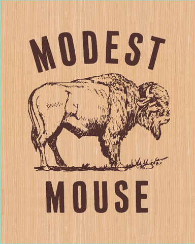 Modest Mouse Wooden Poster – Glacial Pace Recordings
