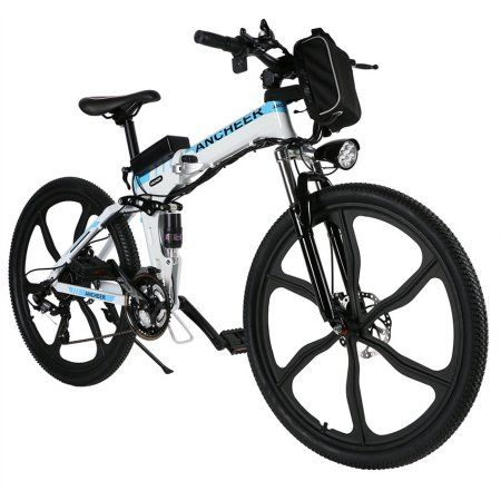 Ancheer 26 27 Speed Foldable Mountain Bike Folding Electric Power