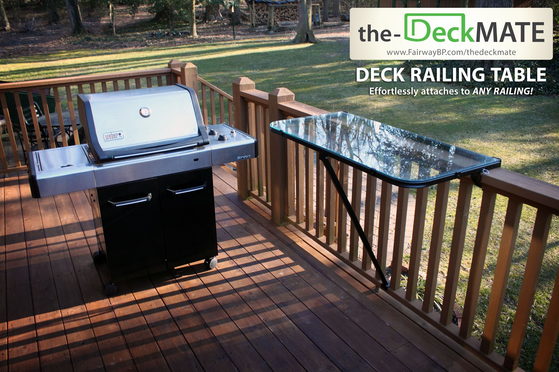 Fairway Introduces The Deckmate Deck Railing Table Easily And