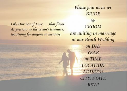 Embellish your wedding invitations with refined wording Beach - best of invitation text for marriage